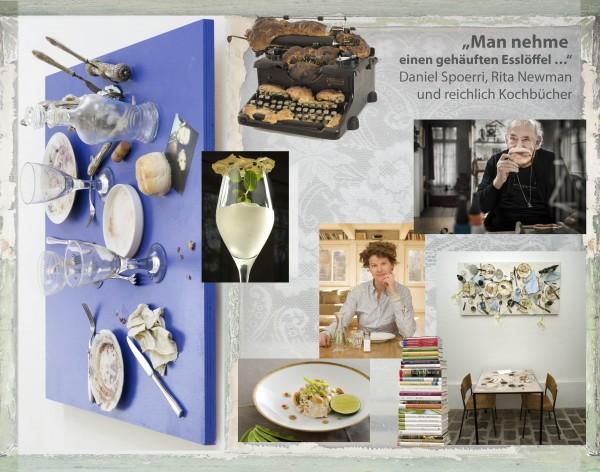 """""""Man nehme einen gehäuften Esslöffel …"""" Daniel Spoerri, Rita Newman und reichlich Kochbücher"""