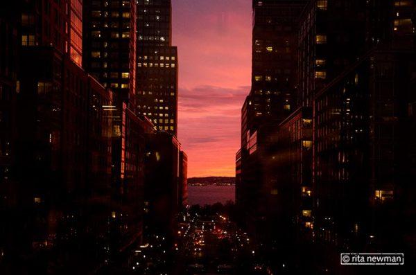 Blick aus dem Fenster Richtung North Cove / Battery Park City